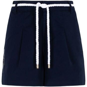 Oblečenie Ženy Šortky a bermudy Ea7 Emporio Armani 3KTS54 TN3EZ Modrá