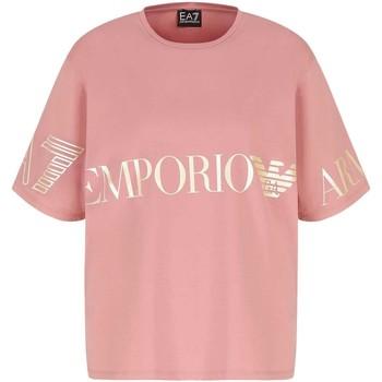 Oblečenie Ženy Tričká s krátkym rukávom Ea7 Emporio Armani 3KTT18 TJ29Z Ružová