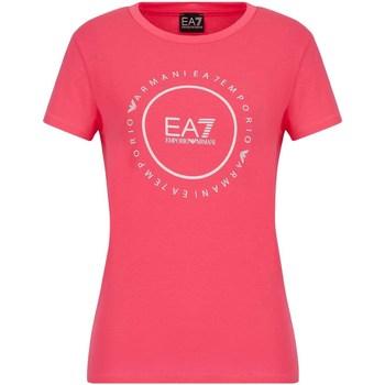 Oblečenie Ženy Tričká s krátkym rukávom Ea7 Emporio Armani 3KTT22 TJ1TZ Ružová