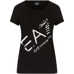 Oblečenie Ženy Tričká s krátkym rukávom Ea7 Emporio Armani 3KTT28 TJ12Z čierna