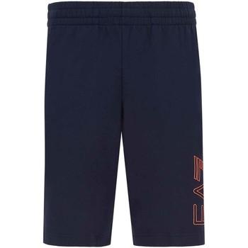 Oblečenie Muži Šortky a bermudy Ea7 Emporio Armani 3KPS57 PJ05Z Modrá
