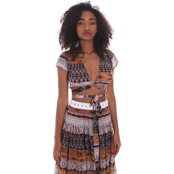 Oblečenie Ženy Blúzky Me Fui M20-0051X1 Hnedá
