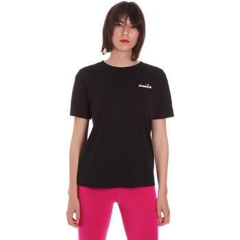 Oblečenie Ženy Tričká s krátkym rukávom Diadora 102175873 čierna