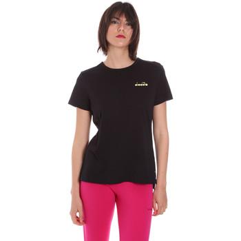 Oblečenie Ženy Tričká s krátkym rukávom Diadora 102175882 čierna
