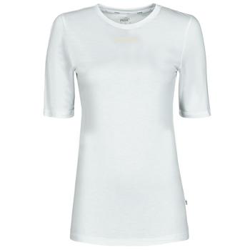 Oblečenie Ženy Tričká s krátkym rukávom Puma MBASIC TEE Biela