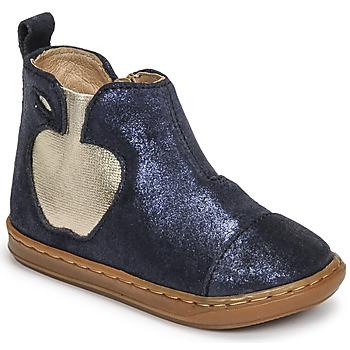Topánky Dievčatá Polokozačky Shoo Pom BOUBA APPLE Modrá