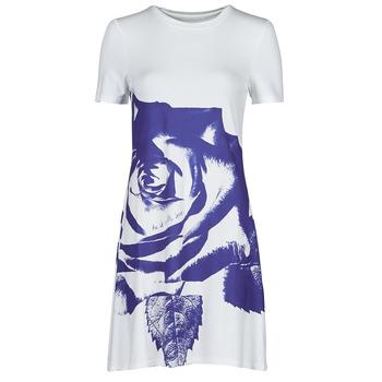 Oblečenie Ženy Krátke šaty Desigual WASHINTONG Biela / Modrá