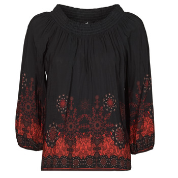 Oblečenie Ženy Blúzky Desigual EIRE Čierna / Červená