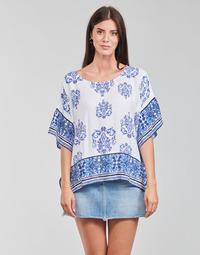Oblečenie Ženy Blúzky Desigual ANDES Biela / Modrá