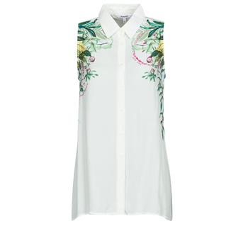 Oblečenie Ženy Blúzky Desigual FILADELFIA Biela / Zelená