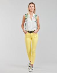 Oblečenie Ženy Nohavice päťvreckové Desigual ALBA Žltá