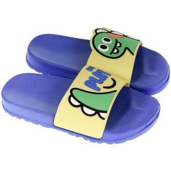 Topánky Deti športové šľapky John-C Detské žlto-modré šľapky PLAY žltá