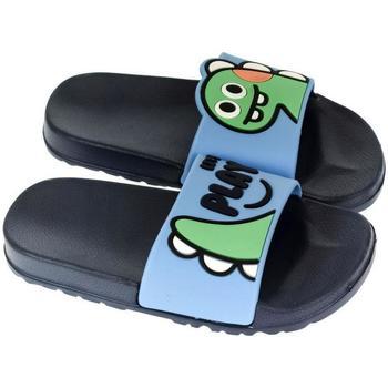 Topánky Deti športové šľapky John-C Detské tmavo-modré šľapky PLAY tmavomodrá