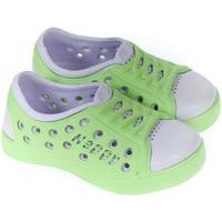 Topánky Deti Obuv pre vodné športy John-C Detské zelené crocsy HAPPY svetlozelená