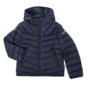 Oblečenie Chlapci Vyteplené bundy Napapijri AERONS Námornícka modrá