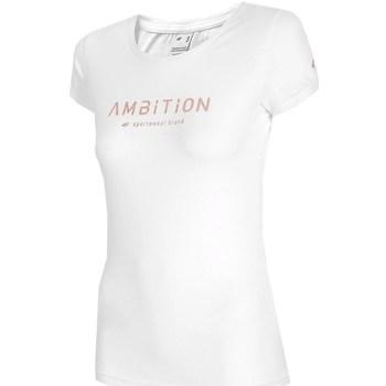 Oblečenie Ženy Tričká s krátkym rukávom 4F TSD033 Biela