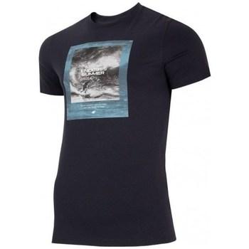 Oblečenie Muži Tričká s krátkym rukávom 4F TSM028 Čierna