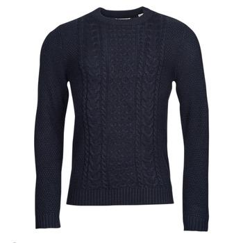 Oblečenie Muži Svetre Jack & Jones JJCRAIG Námornícka modrá