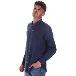 Oblečenie Muži Košele s dlhým rukávom U.S Polo Assn. 58667 50816 Modrá