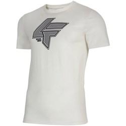 Oblečenie Muži Tričká s krátkym rukávom 4F TSM010 Biela