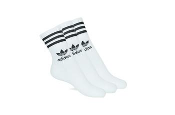 Doplnky Vysoké ponožky adidas Originals MID CUT CRW X 3 Biela