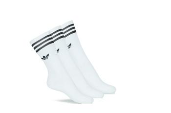 Spodná bielizeň Vysoké ponožky adidas Originals SOLID CREW SOCK X3 Biela