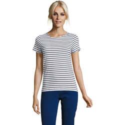 Oblečenie Ženy Tričká s krátkym rukávom Sols Camiseta de mujer a rayas Azul