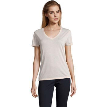 Oblečenie Ženy Tričká s krátkym rukávom Sols MOTION camiseta de pico mujer Rosa