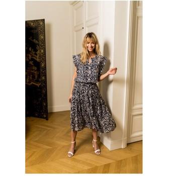 Oblečenie Ženy Blúzky Fashion brands CK08138-MARINE Námornícka modrá