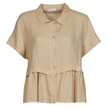Oblečenie Ženy Blúzky Fashion brands 10998-BEIGE Béžová