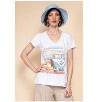 Oblečenie Ženy Blúzky Fashion brands 8301-COMBI-SKY-BLUE Modrá