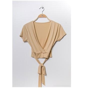 Oblečenie Ženy Blúzky Fashion brands FR029T-BEIGE Béžová