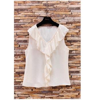Oblečenie Ženy Blúzky Fashion brands ERMD-13797-CP-BLANC Biela