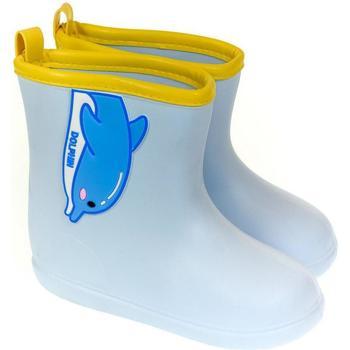 Topánky Deti Gumaky John-C Detské modré gumáky DELFÍN svetlomodrá