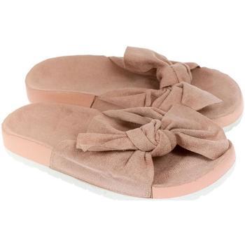 Topánky Ženy Šľapky Bella Paris Dámske ružové šľapky ORLINA PARIS béžová