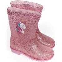 Topánky Deti Gumaky John-C Detské ružové gumáky UNICORN 30-35 ružová