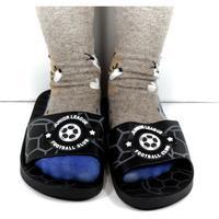 Topánky Deti športové šľapky Wink Detské čierne šľapky FOOTBALL čierna