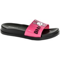 Topánky Dievčatá športové šľapky Wink Detské tmavo-ružové šľapky BNY ružová