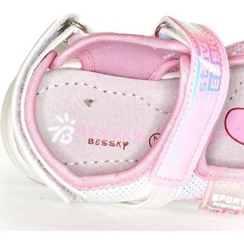 Topánky Dievčatá Sandále Bessky Detské biele sandále  CELESTE biela