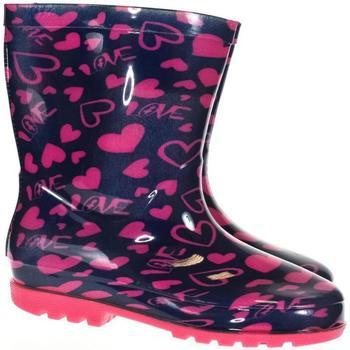 Topánky Chlapci Gumaky Bbs Detské ružové gumáky PINK HEART ružová