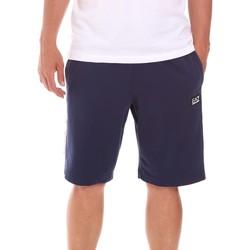 Oblečenie Muži Šortky a bermudy Ea7 Emporio Armani 3KPS81 PJ05Z Modrá