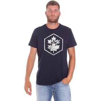Oblečenie Muži Tričká s krátkym rukávom Lumberjack CM60343 023EU Modrá