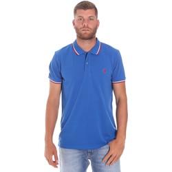 Oblečenie Muži Polokošele s krátkym rukávom Lumberjack CM45940 016EU Modrá