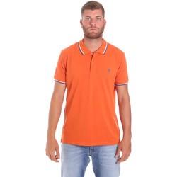 Oblečenie Muži Polokošele s krátkym rukávom Lumberjack CM45940 016EU Oranžová
