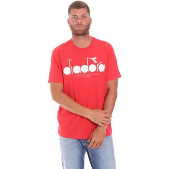 Oblečenie Muži Tričká s krátkym rukávom Diadora 502176633 Červená