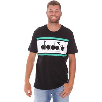 Oblečenie Muži Tričká s krátkym rukávom Diadora 502176632 čierna