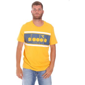 Oblečenie Muži Tričká s krátkym rukávom Diadora 502176632 žltá