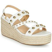 Topánky Ženy Sandále Cosmo Paris HOURA Biela / Zlatá