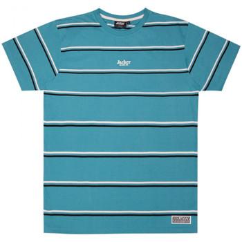 Oblečenie Muži Tričká s krátkym rukávom Jacker Poh stripes Modrá