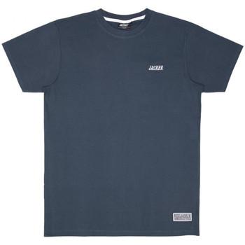 Oblečenie Muži Tričká s krátkym rukávom Jacker Classic logo Modrá